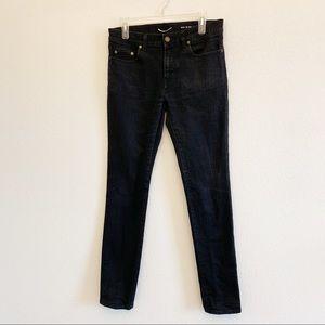 Saint Laurent | Distressed Black Skinny Jeans 31